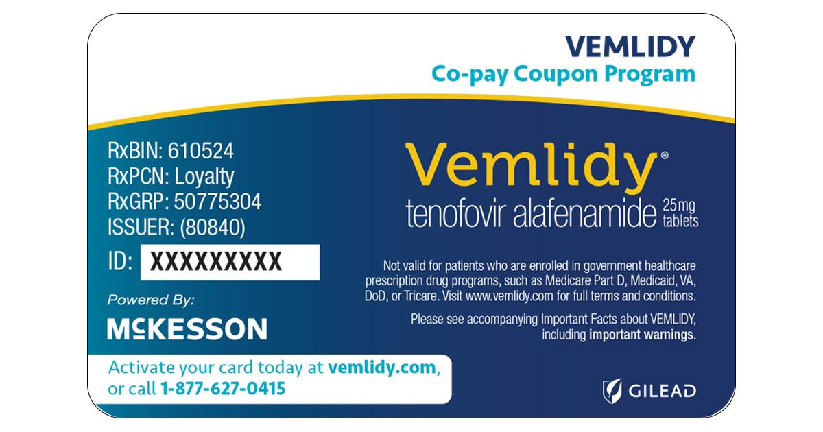 Vemlidy 174 Tenofovir Alafenamide Savings And Support